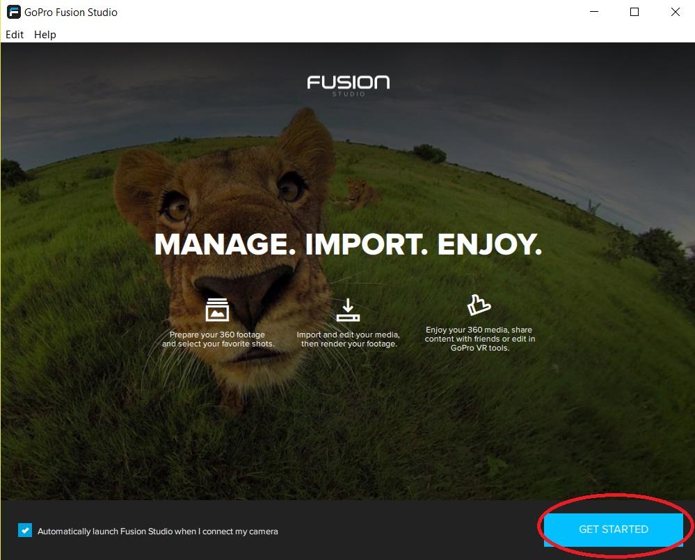 montage GoPro fusion