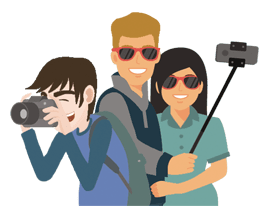 3 pers photographe, selfie