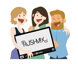 site de montage vidéo - 3 amis vidéo rushmix