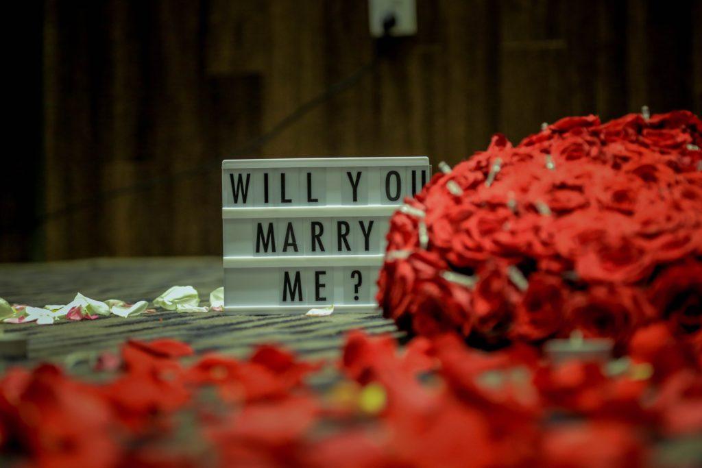 faire demande en mariage