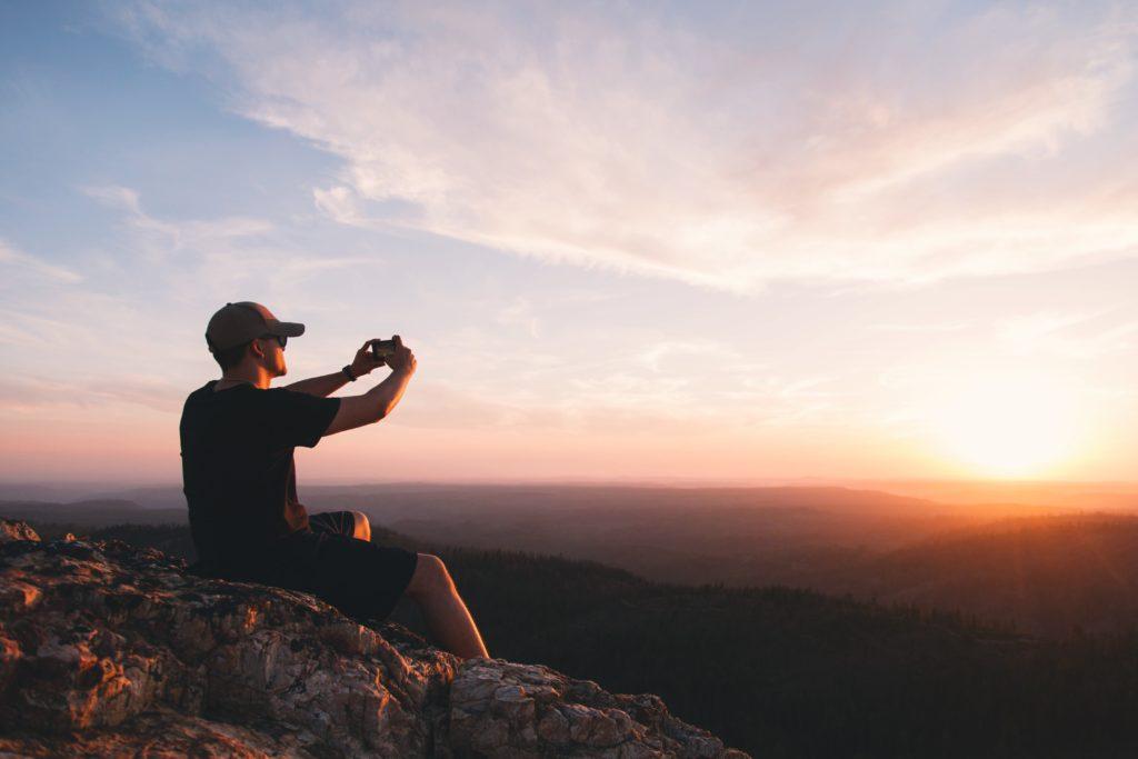 filmer coucher soleil